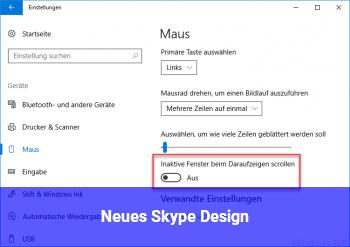 Neues Skype Design