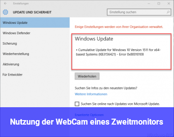 Nutzung der WebCam eines Zweitmonitors