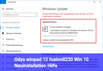 Odys winpad 12 fusion… Win 10 Neuinstallation. Hilfe