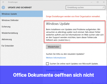 Office Dokumente öffnen sich nicht
