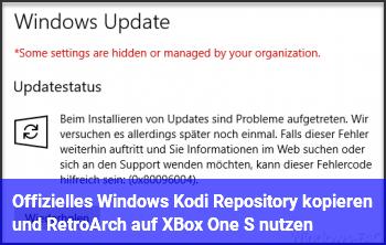 Offizielles Windows Kodi Repository kopieren und RetroArch auf XBox One S nutzen?