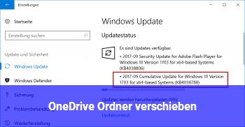 OneDrive Ordner verschieben