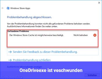 OneDrive.exe ist veschwunden