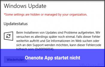 Onenote App startet nicht