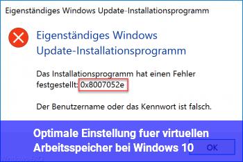 Optimale Einstellung für virtuellen Arbeitsspeicher bei Windows 10