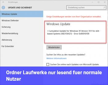 Ordner / Laufwerke nur lesend für normale Nutzer