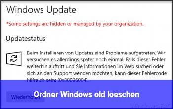 Ordner Windows old löschen?