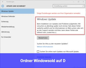 Ordner Windows.old auf D