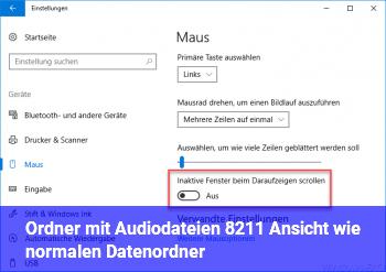 """Ordner mit Audiodateien – Ansicht wie """"normalen Datenordner"""""""