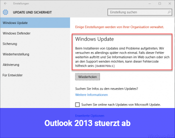 Outlook 2013 stürzt ab