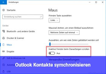 Outlook Kontakte symchronisieren