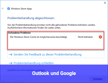 Outlook und Google