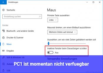 PC1 ist momentan nicht verfügbar