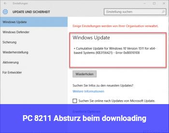 PC – Absturz beim downloading