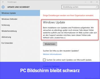 PC Bildschirm bleibt schwarz!