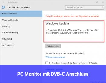 PC Monitor mit DVB-C Anschluss