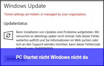 PC Startet nicht, Windows nicht da???