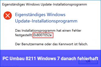 PC Umbau – Windows 7 danach fehlerhaft