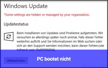 PC bootet nicht