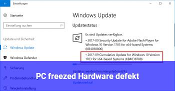 PC freezed, Hardware defekt?