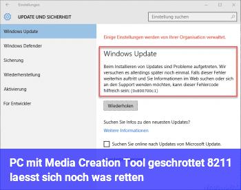 PC mit Media Creation Tool geschrottet – lässt sich noch was retten?