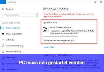 """""""PC muss neu gestartet werden"""""""