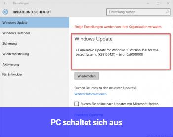 PC schaltet sich aus