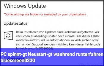 PC spinnt-> Neustart-> während runterfahren bluescreen…