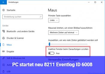 PC startet neu – Eventlog ID 6008