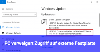 PC verweigert Zugriff auf externe Festplatte