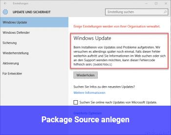 Package Source anlegen?