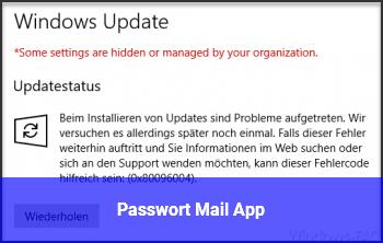 Passwort Mail App
