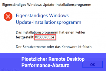 Plötzlicher Remote Desktop Performance-Absturz