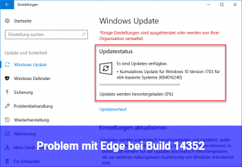 Problem mit Edge bei Build 14352