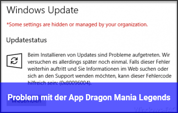 Problem mit der App Dragon Mania Legends