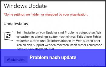 Problem nach update