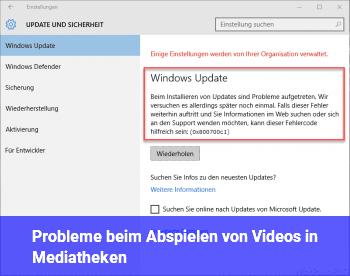 Probleme beim Abspielen von Videos in Mediatheken