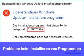 Probleme beim Installieren von Programmen