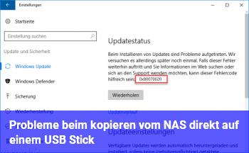Probleme beim kopieren vom NAS direkt auf einem USB Stick