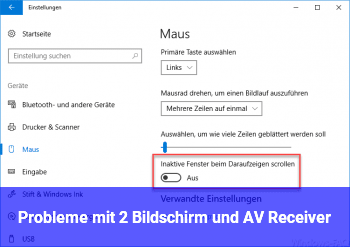 Probleme mit 2. Bildschirm und AV Receiver