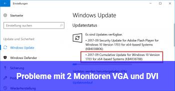 Probleme mit 2 Monitoren (VGA und DVI)