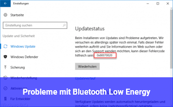 Probleme mit Bluetooth (Low Energy?)