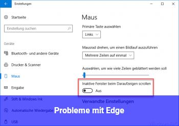 Probleme mit Edge