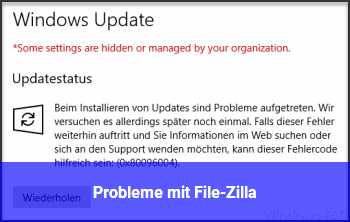 Probleme mit File-Zilla