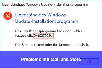 Probleme mit Mail und Store