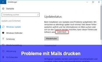 Probleme mit Mails drucken