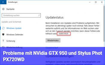 Probleme mit NVidia GTX 950 und Stylus Phot PX720WD