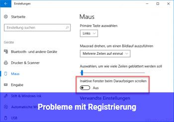 Probleme mit Registrierung