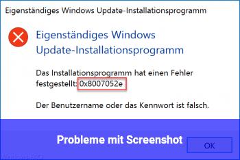Probleme mit Screenshot