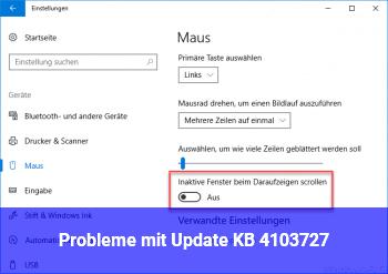 Probleme mit Update KB 4103727